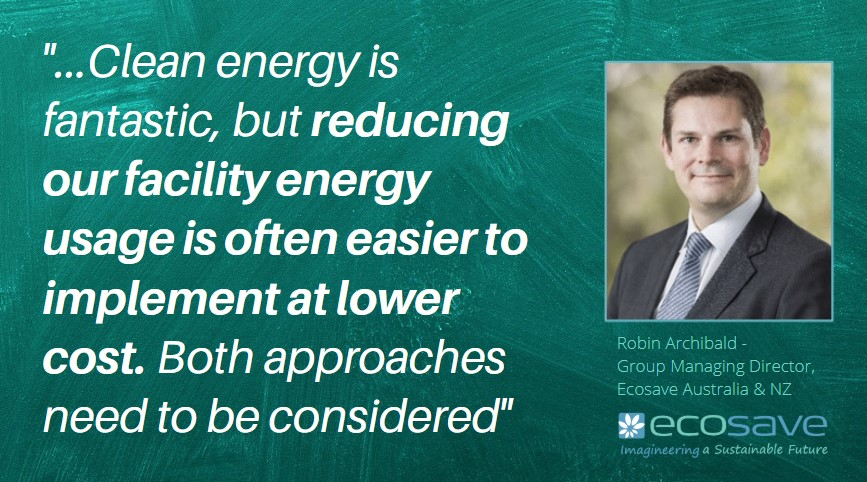 Clean Energy Recovery - Clean Recovery - reducing our facility energy usage is often easier to implement at lower cost