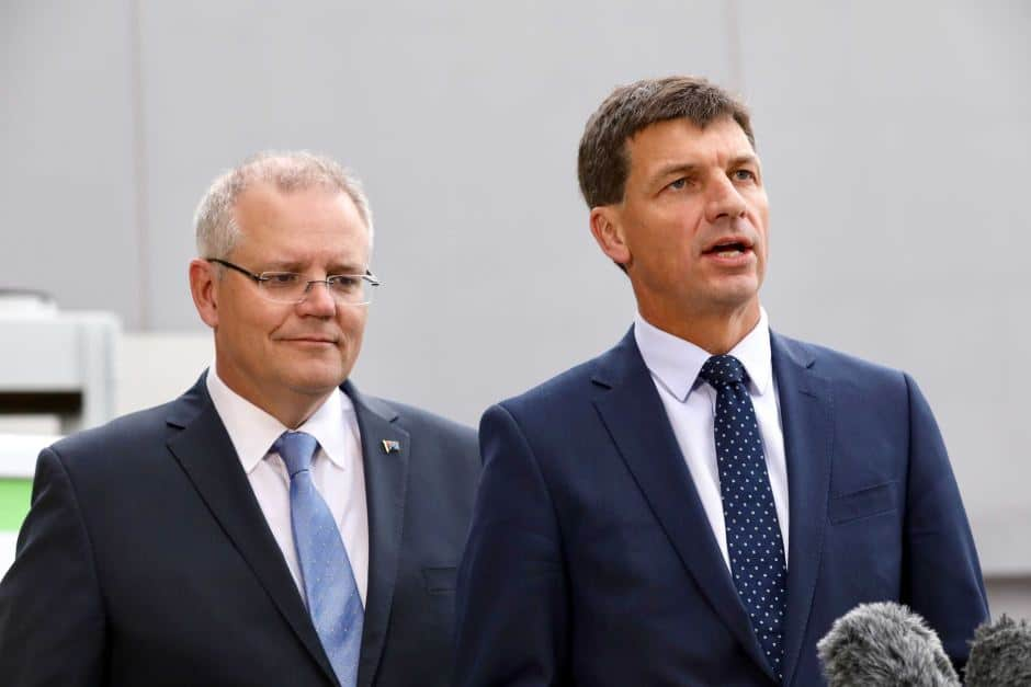 Scott Morrison and Angus Taylor announce $1.9 billion in funding for energy initiatives